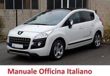 PEUGEOT 3008 Prima Serie MK1 (2009/2016) Manuale OFFICINA Riparazione ITALIANO