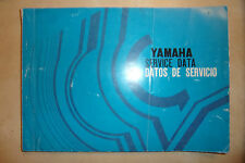 YAMAHA OEM SERVICE DATA BOOK MANUAL inc CIRCUIT DIAGRAMS RT1 DT1 CT1 HT1 R5 1970