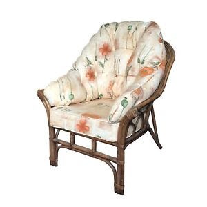NEW WRAP CUSHIONS AND COVERS FOR 1 CHAIR - CANE CONSERVATORY WICKER FURNITURE
