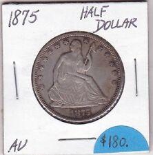 1875 SEATED HALF DOLLAR  AU CONDITION