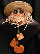 Halloween Scarecrow Terracotta Pot Decorative Fall Hanging Homemade Craft