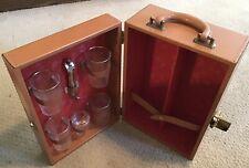 Vintage Quality Portable Travel Bar, W. Glasses & Tools!
