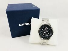 Casio Edifice Solar Powered Chronograph Watch Model EFR-545 / 5274 Silver Black