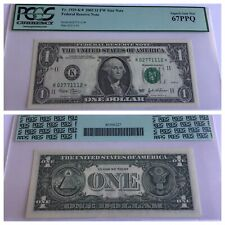 VINTAGE pcgs 67 PPQ $1 FW STAR DALLAS 2003 FEDERAL RESERVE NOTE ONE DOLLAR UNC