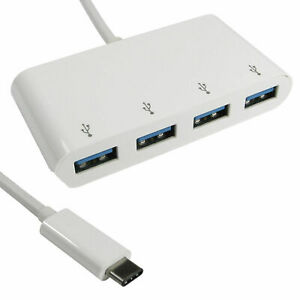 15cm USB 3.1 Type C Prise Mâle Vers 4 Port Super Vitesse Hub Adaptateur [008305]