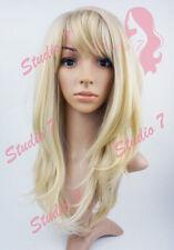 W140 Bleached Blonde Mix Long Wavy Layered Wig - studio7-uk