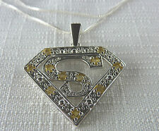 1.75ct Genuine Citrine Solid 925 Sterling Silver Pendant & Chain