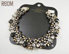 Zara gray and clear rhinestone necklace