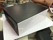 "8.3""x6""x3"" Black DIY Metal Electronic Project Box / Transformer Enclosure Case"