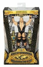 WWE Defining Moments STONE COLD STEVE AUSTIN FIGURE INCLUDES 3 BELTS
