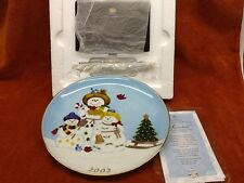 "New In Box Party Lite 2002 ""Snowbell"" Collectible Plate - First In A Series"