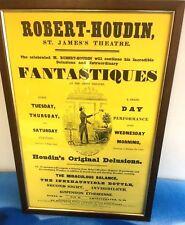 Robert Houdin Framed Poster Print French Magician Memorabilia Conjurer 20 X 13.5