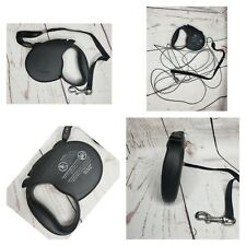 Standard 2 Flexi Black Retractable Dog Leash With Leash Lock