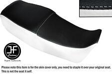 Vinilo Blanco Y Negro Automotriz Personalizado Para Suzuki GS 450 e Dual Cubierta de asiento solamente