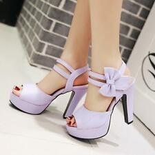 Sweet Women Platform Sandal Open Toe High Heels Lolita Ankle Strap Shoes Evening