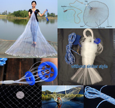 Hand Throw Fishing Net Casting Easy Fishing Bait Catch Netting Cast Mesh Outdoor