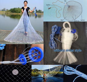 240cm Big Fishing Net Casting Catching Bait Fish Open Easy Throw Large Catch NEW