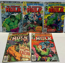 Marvel Super Heroes-The Incredible Hulk Lot Of 5~63,64,78,80,82~ Kazar Avengers