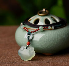 Natural Serpentine Jade Longevity Locket Pendant