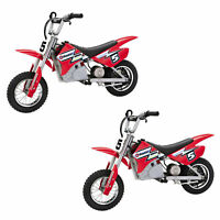 Razor MX350 Dirt Rocket Electric Motocross Motorcycle Dirt Bike, Red (2 Pack)