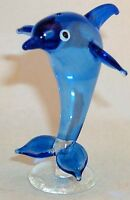 Fish Large Parrot Blue Scales on Clear body 1050 handmade artglass