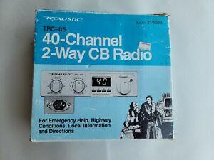 Realistic 2-way TRC-415 CB Radio w/ Antenna Original Packaging, Manual, Hardware