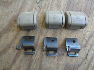 Volvo S60 V70 XC70  Rear Child Seat Safety Anchor kit with Cover Light gray  OEM