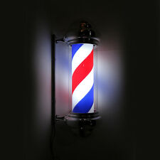 "30"" Modern Barber Shop LED Light Sign Hair Salon Pole Red White Bule Rotating"