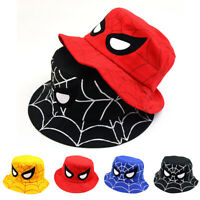 Kid Child Baby Boy Spiderman Cartoon Travel Bucket Hat Fisherman Summer Sun Cap