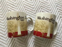 Starbucks Washington DC Coffee Mugs Set Of 2 Collector City Series Global Icon