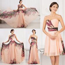 GK Kurz Lang Floral Abendkleid Ballkleid Partykleid Gr:34/36/38/40/42/44/52/54+