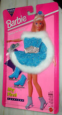 Barbie doll clothes My First Fashions blue and silver ice skating costume 1994