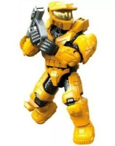 Halo Mega Construx Bloks Clash On the Ring Spartan Mark V Yellow NEW Taped Bag