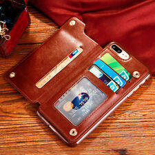 Luxury Leather Wallet Card Holder Case Cover For Apple iPhone X 7 8 Plus 6s Plus
