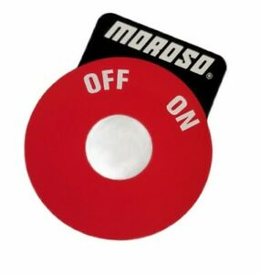 Moroso 74101120 Battery Disconnect Decal Red/Black On-Off