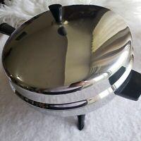 Vintage Farberware Stainless Steel 12 in Electric Skillet Fry Pan Dome Lid 310-A