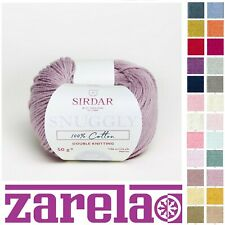 Sirdar Snuggly 100% Cotton DK 50g *****ALL COLOURS*****