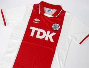 Retro Ajax Home Kit 1989-91 Football Shirt Soccer Jersey Vintage