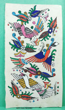 VINTAGE AMATE BARK PAPER PAINTING 6 x 3.50 INCHES COLOR on WHITE FROM MEXICO #24