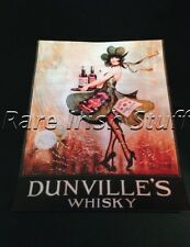 Dunvilles Whiskey - Irish Waitress With Shamrock Dress Old 1920s Pub Bar Print