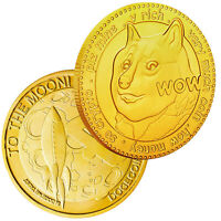 Dogecoin Military Challenge Coin Gold Plated Doge Coin