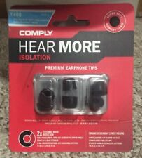 Comply Foam Premium Earphone Tips - Isolation T-400 Black Large 3 Pairs