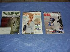 Three Business Opportunities Magazines January 2010 + April 2010 + Fall 2010