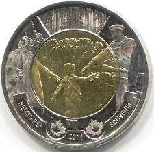 2014 CANADA TWO DOLLAR Coin - 'Wait For Me Daddy'