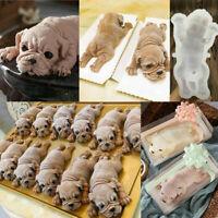 Dog Silicone Mould Mousse Fondant Cake Chocolate 3D Animal Pudding Baking Mold