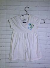 Flowers By Zoe Heart Tunic Shirt White Shore Sleeve Girls Size 5