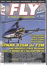 FLY N°187 SPARK 435M DE T2M / PIPER CHEROKEE GRAUPNER / P-40 WARHAWK 300 E-FLITE