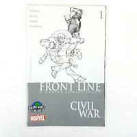 Civil War Front Line 1 Wizard World Chicago Michael Turner Variant Sketch Cover