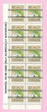 CANADA 1978 English Margin Block of 10 - 10c. FLOWER DEFINITIVE  Precancels  MNH