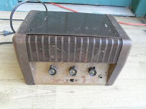 Rare Vintage Tube amp amplifier guitar mic Sears Silvertone PA